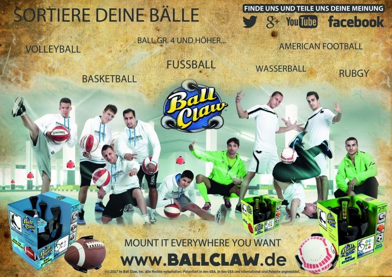 BALLHALTER, BALLHALTERUNG, BALL CLAW, Spalding Breakball Team