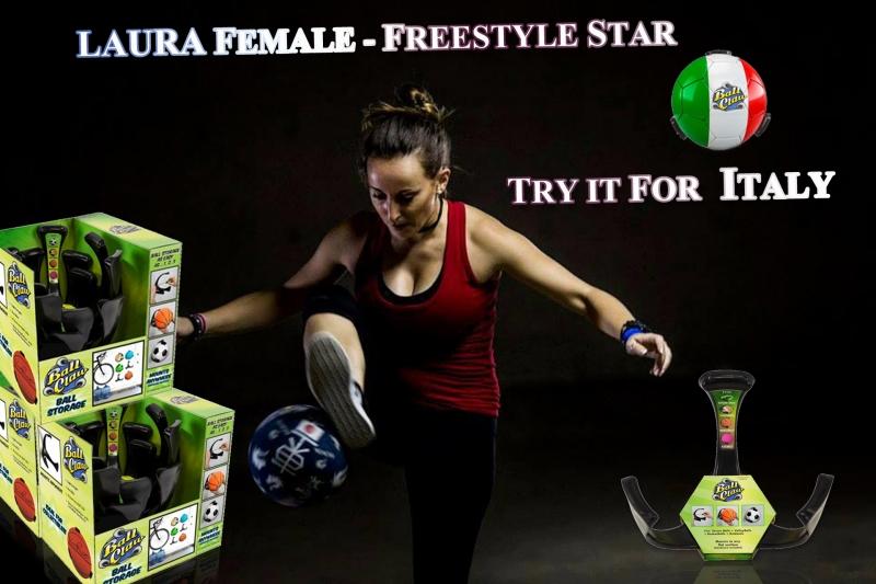 BALLHOLDER, BALLHALTER, BRISCO Freestyle, ballhalter.com, LAURA BALL CLAW ITALY